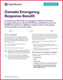 Canada Emergency Response Benefit Cerb Grant Thornton