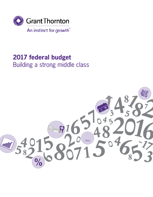 2017 federal budget cover
