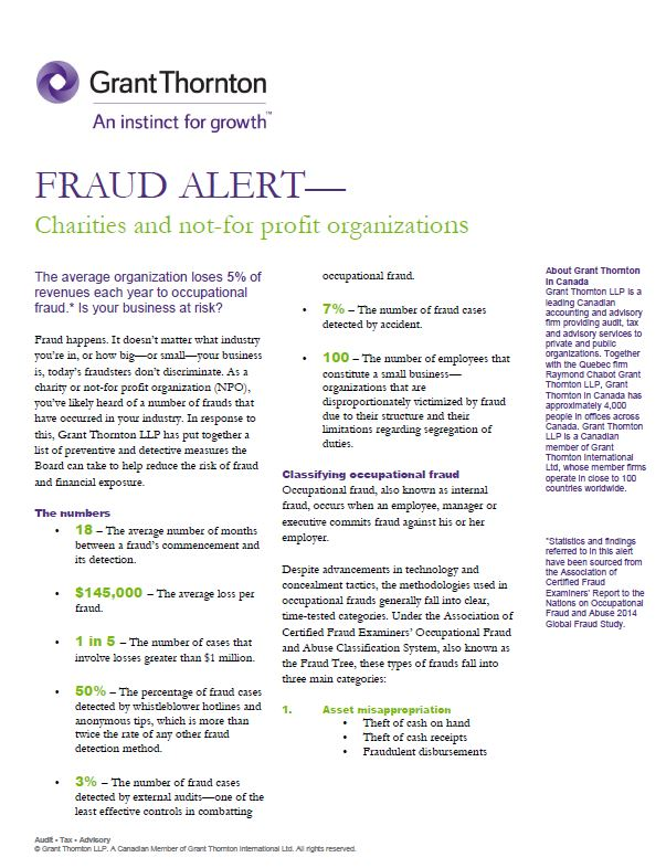 fraud alert npo cover