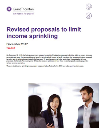 income sprinkling cover
