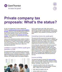 private tax proposals cover