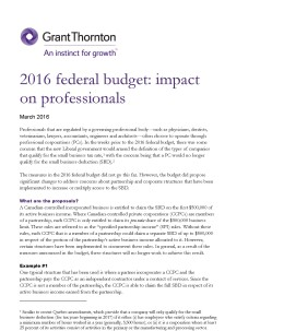 2016 budget professionals cover