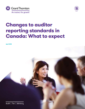 Auditor reporting changes cover