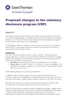 voluntary disclosure cover