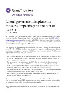 liberal tax measures cover