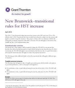 new brunswick trantisional cover