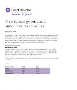 new liberal government cover