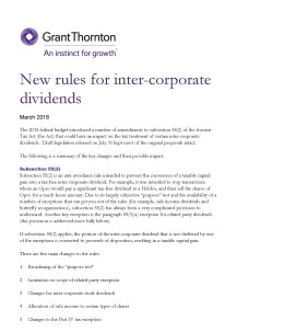 new rules intercorporate cover